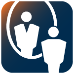 Self-Awareness Icon - person looking into a mirror